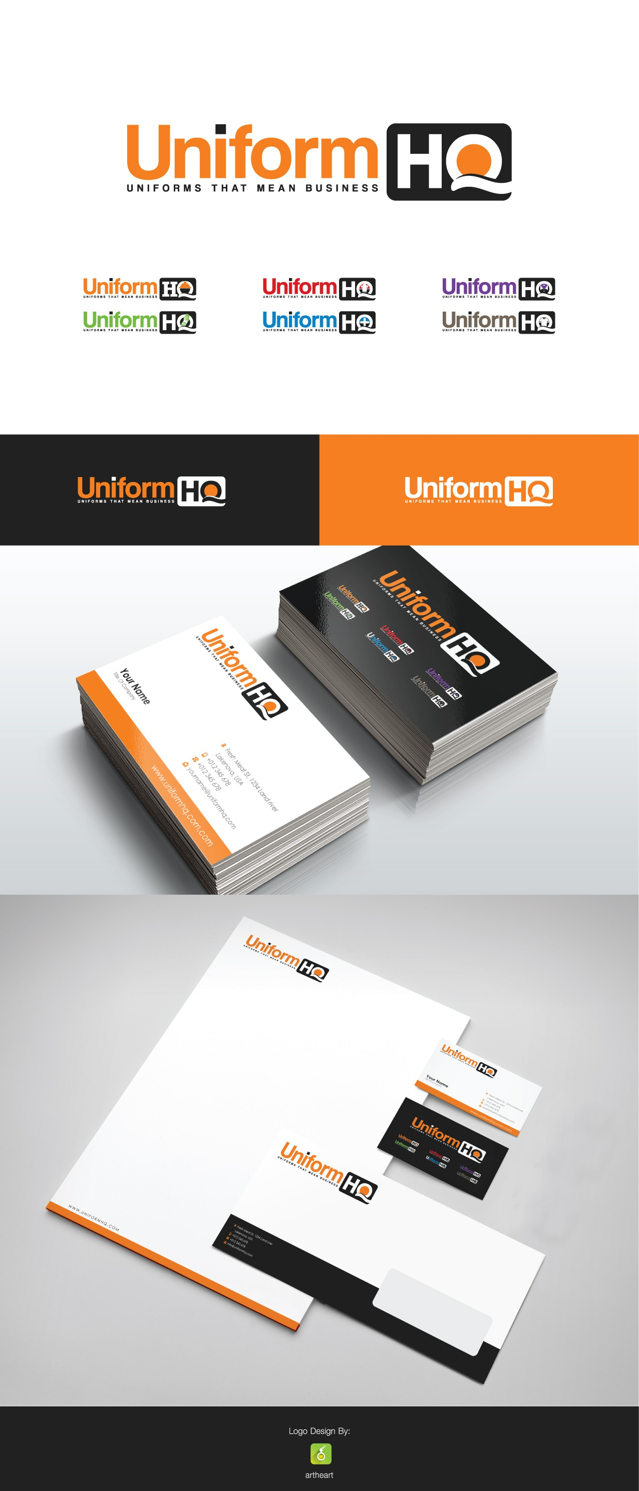 Create a logo for a uniform and workwear retailer