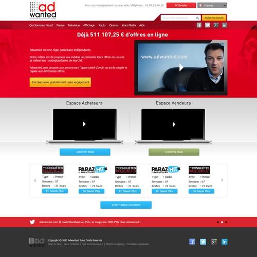 Créez la Home Page d'Adwanted, plateforme d'opportunités média