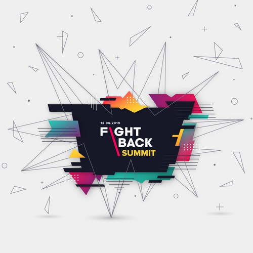 Abstract Graphic for the Fightback Summit event