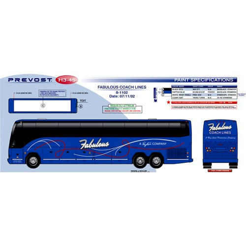 Graphics wrap for Tour Bus line.