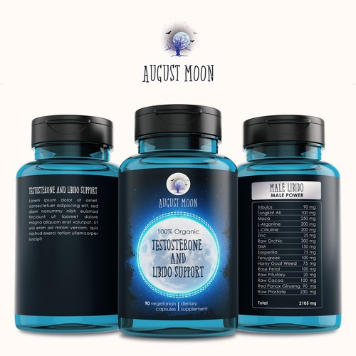 Label for August Moon