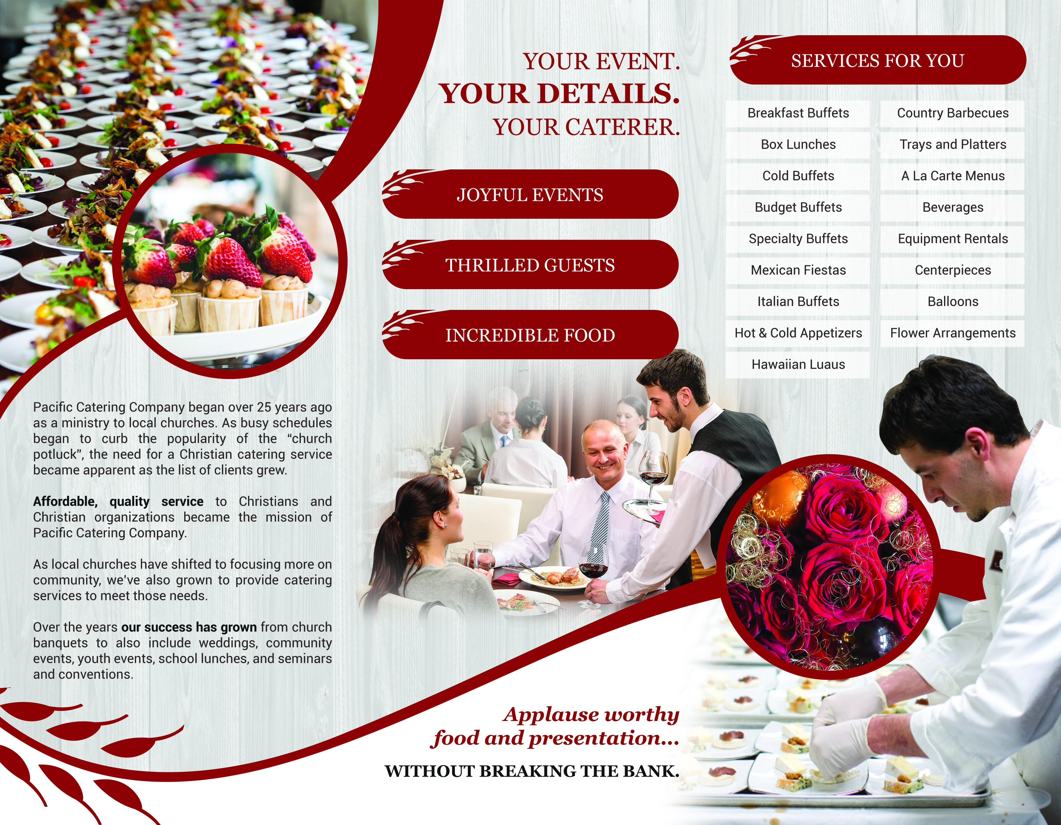 Pacific Catering Company Brochure