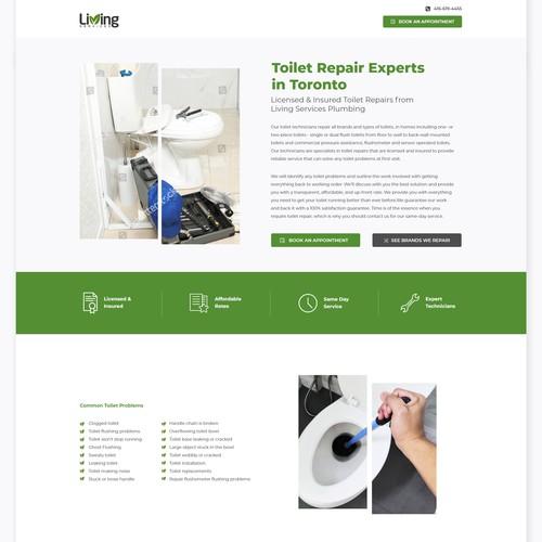 Urban plumbing company landing page
