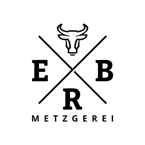 Professional logo for ERB - German butcher shop