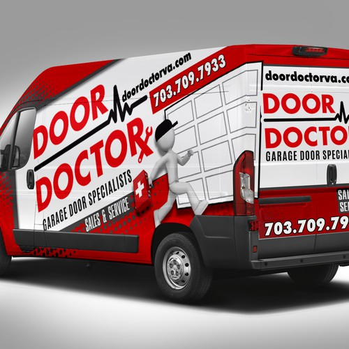Creative Van Wrap Design for Door Doctor