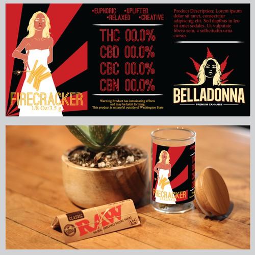 Retro/Propaganda style label design