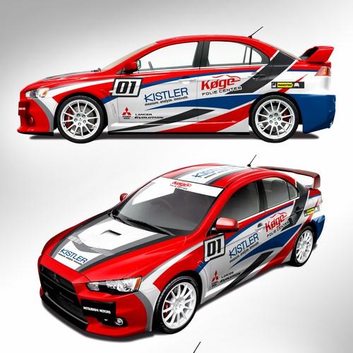 Mitsubishi Evo X Rally Car Livery Design