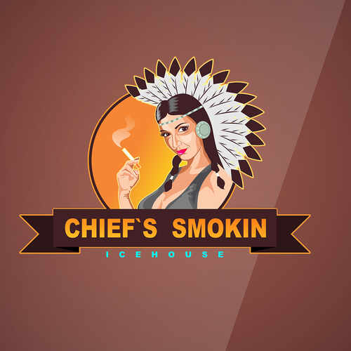 Create the next logo for Chief's Smokin Icehouse