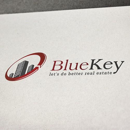 Real Estate Technology Based Logo for BlueKey
