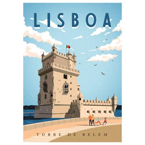 Lisboa (Torre de Belem) Poster