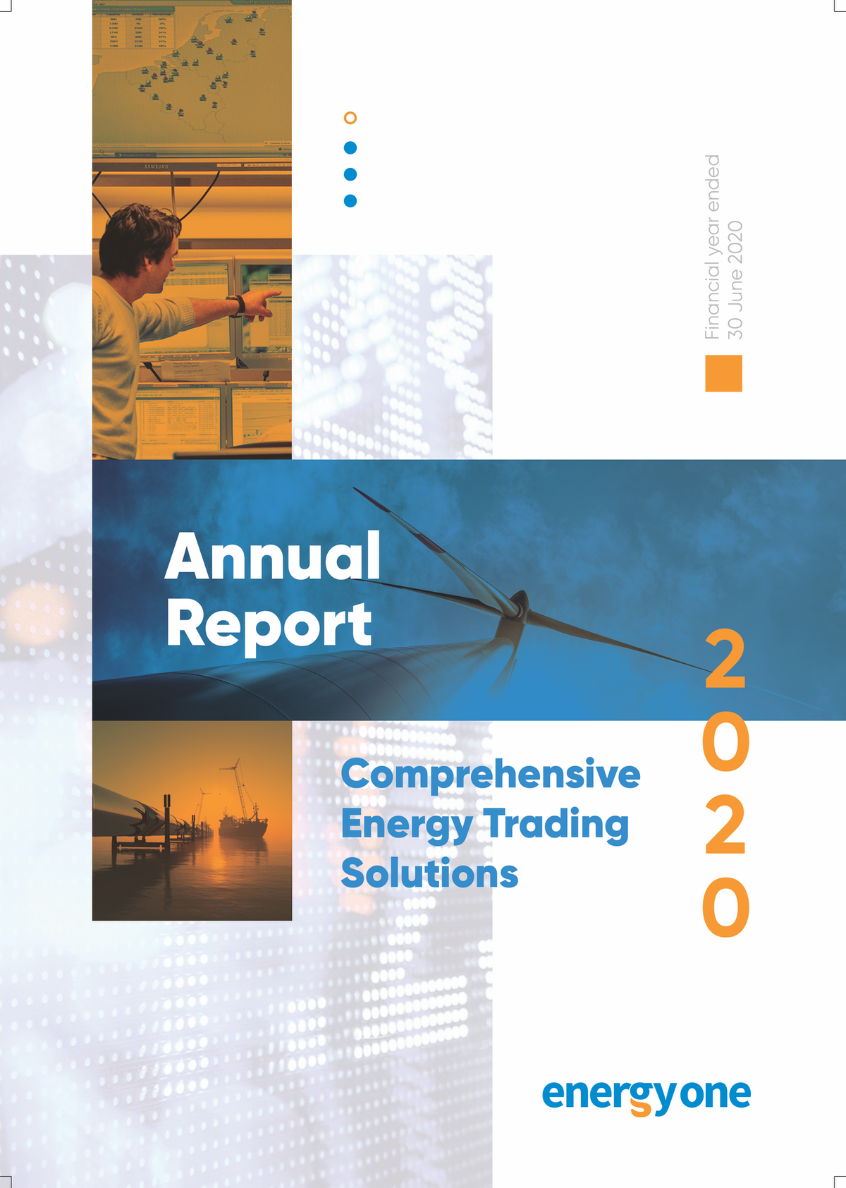 Annual Report Cover for Australian Energy Software Company
