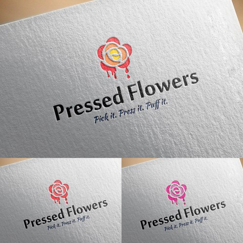 logo for pressed flowers