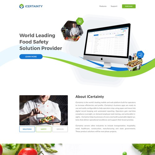 Digital Solution Company Website (Food Industry)