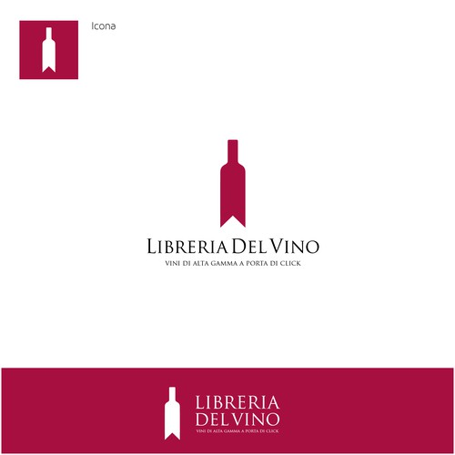 !Exclusive logo design for a wine library!