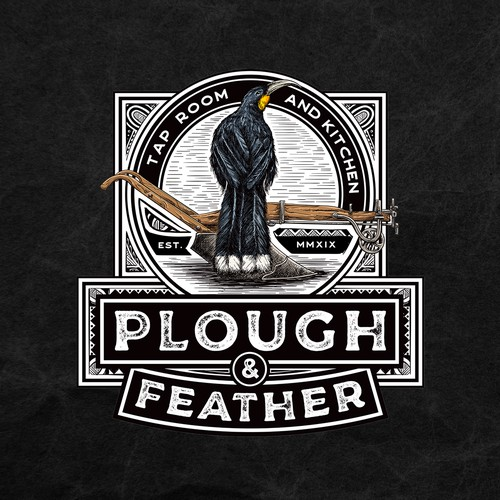 Plough & Feather with Maori pattern