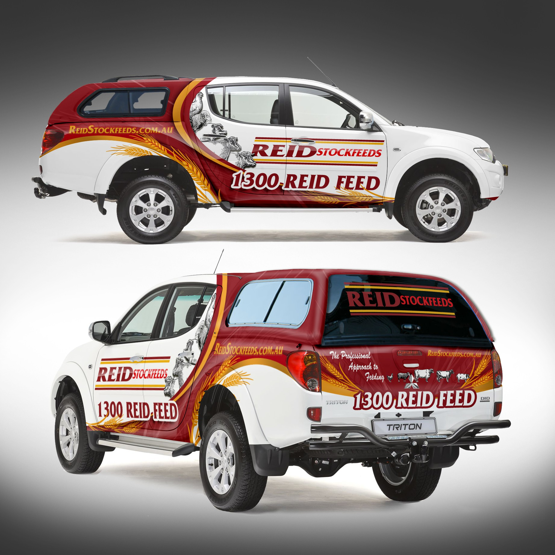 *Guaranteed Prize* Vehicle wrap which will turn heads at traffic lights. Crushed Grain feeds.