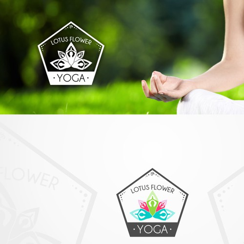 Logo concept for yoga instructor