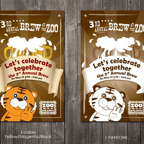 3rd Annual Brew at the Zoo Poster