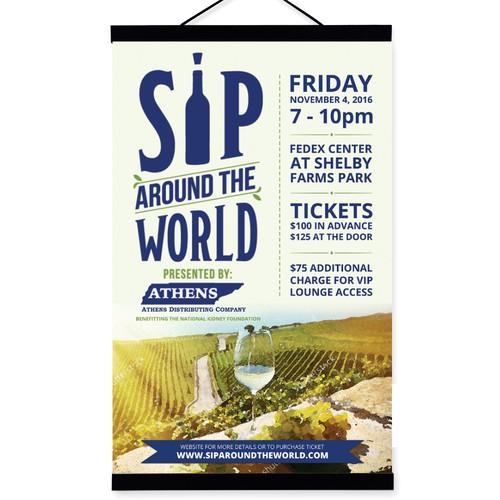 Sip around the world Poster