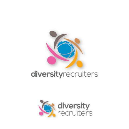 Logo for online recruiting company for employers who care about diversity