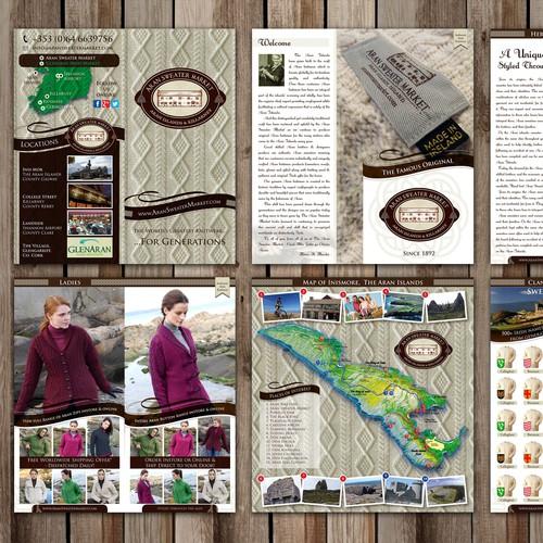 Brochure design for Aran Sweater Market