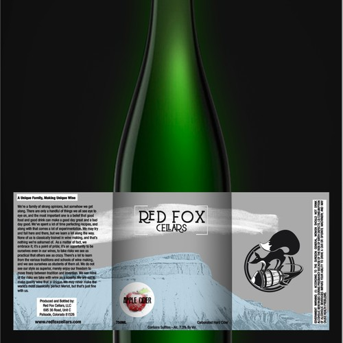 Create Unique Fruit Crate Inspired Cider/Fruit Wine Label for Craft Winery