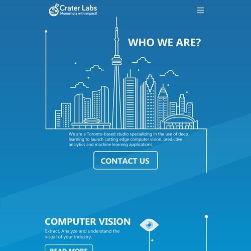 Creater Labs website design
