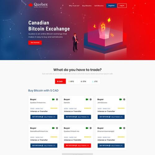 Bitcoin Exchange Website Redesign