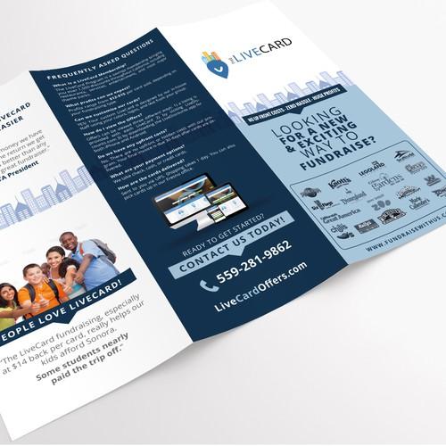 Brochure design for LiveCard