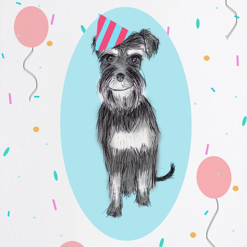 Birthday Card Featuring Owner's Dog