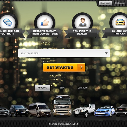 Help Help Design a New website Template For Car Buying Site with a new website design