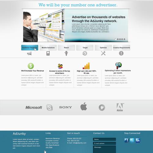 Website Design For AdJunky Advertising Website
