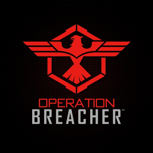 Create a strong powerful Military design for Operation Breacher