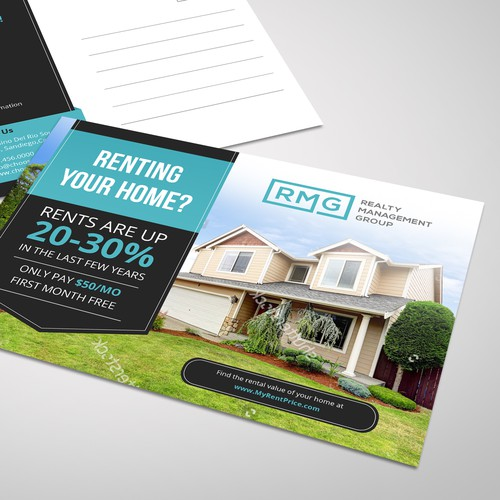 Simple and elegant postcard design for RMG