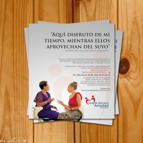 New postcard or flyer wanted for Casa de descanso Amistad