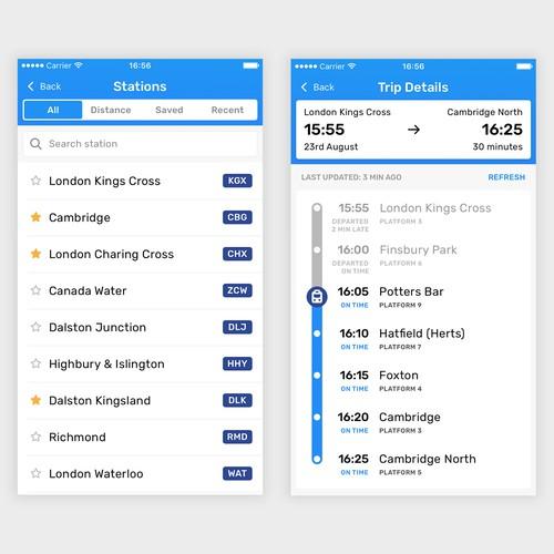 Railboard App Train Details