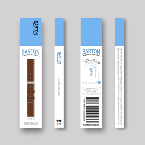 Packaging Design for Top Grain Leather Watch Bands