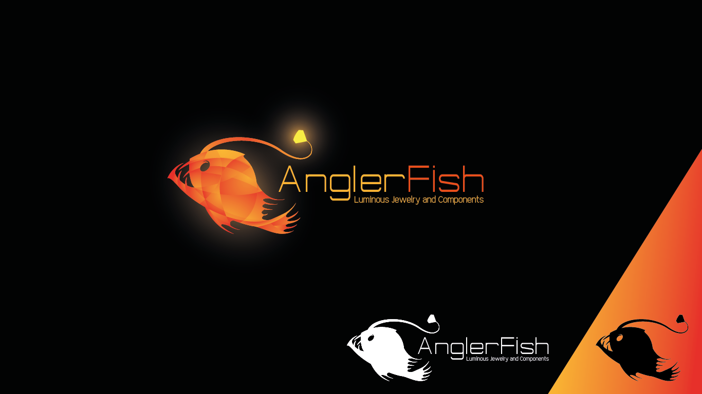 """Hi-tech/edgy/elegant LOGO for """"AnglerFish luminous jewelry & components"""" - private contest"""