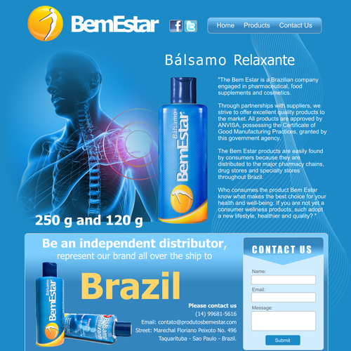 Fantastic Website Design Is Needed For A Pain Relieve Product