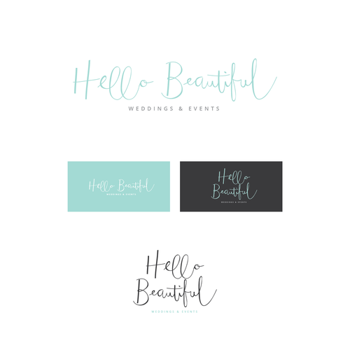 Fun loving, modern and trendy logo for an event planning company.