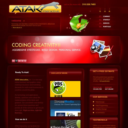 Interactive Services Agency Web Redesign - Award Winner Wanted