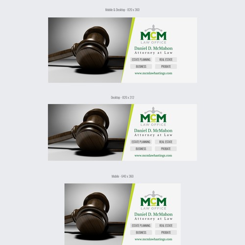 Design a simple Facebook cover for a small law firm