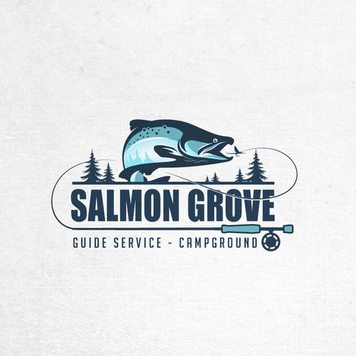 Logo for a Salmon fishing guide service