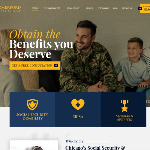Lawfirm website template design