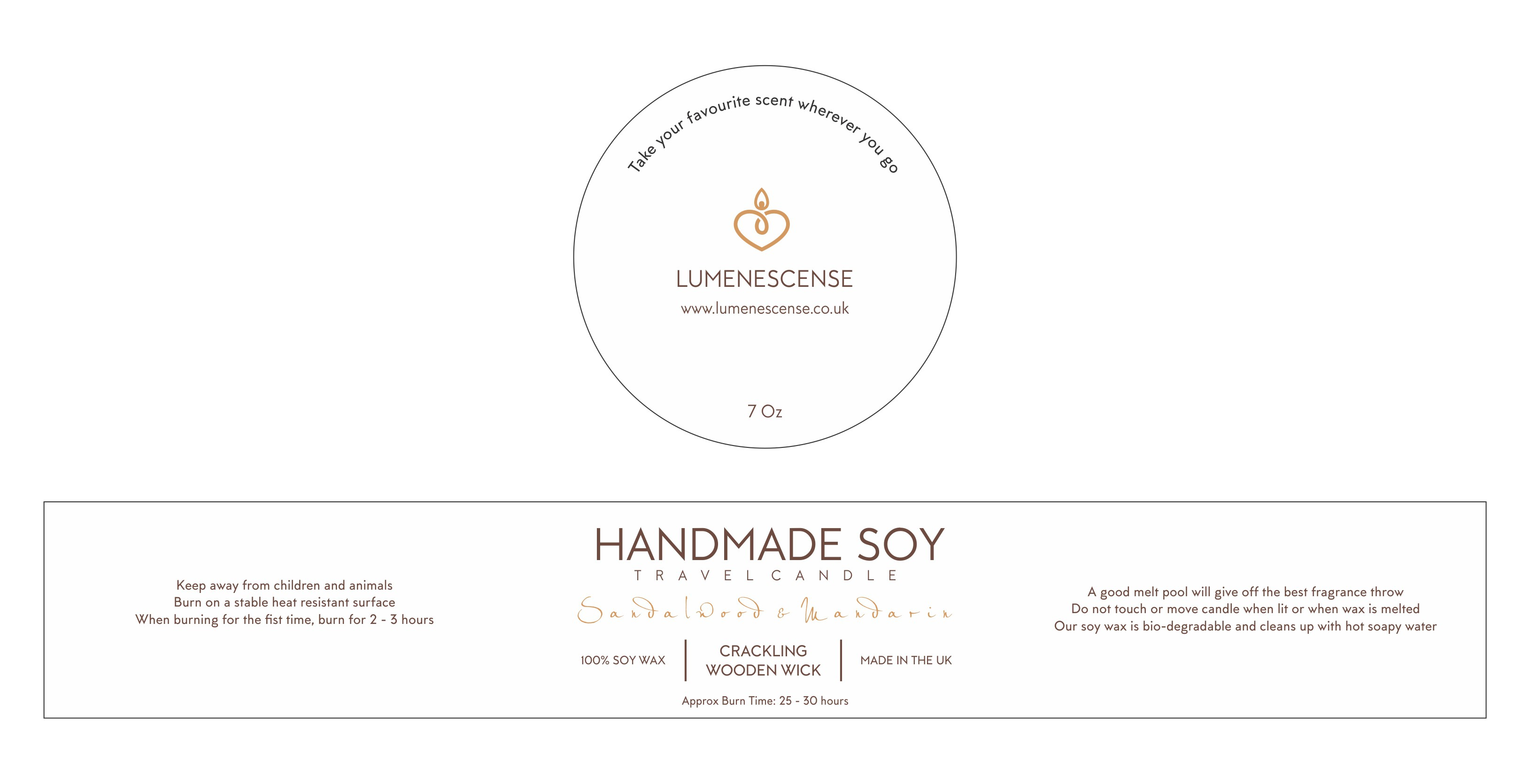 Design a label for a range of beautiful Soy Candle Tins
