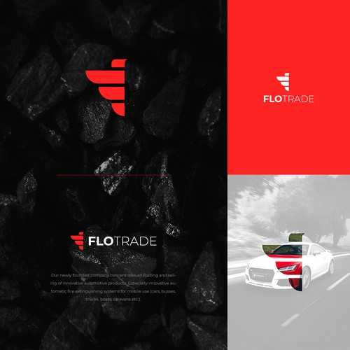 Logo concept for Automotive company Flo Trade