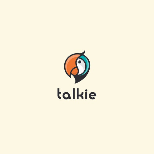 Fun logo design for talky