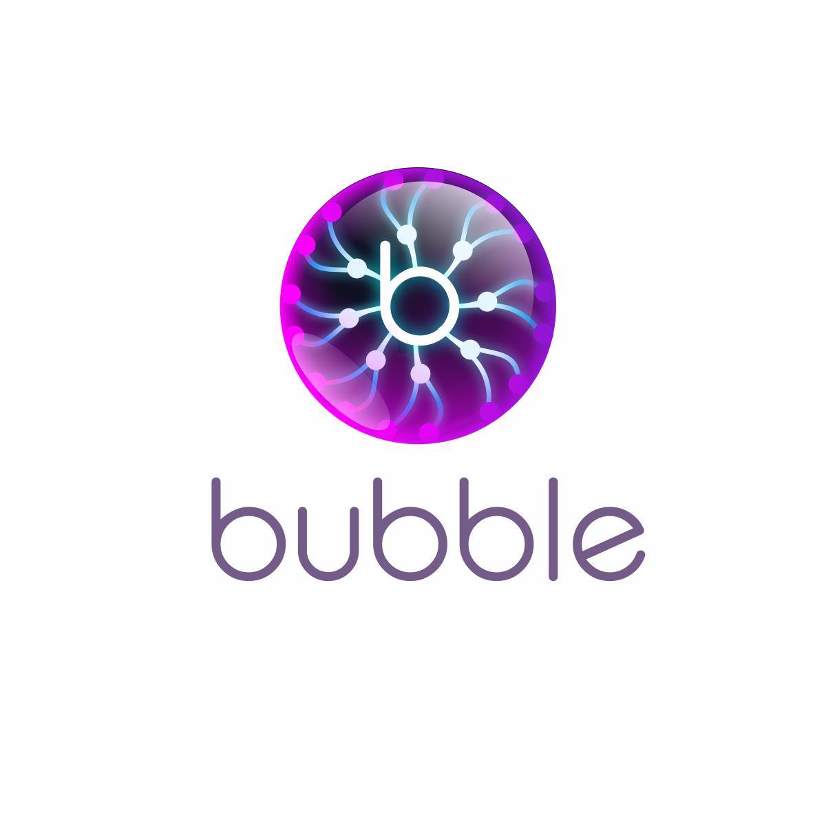 Logo futurezco de una burbuja para una plataforma digital