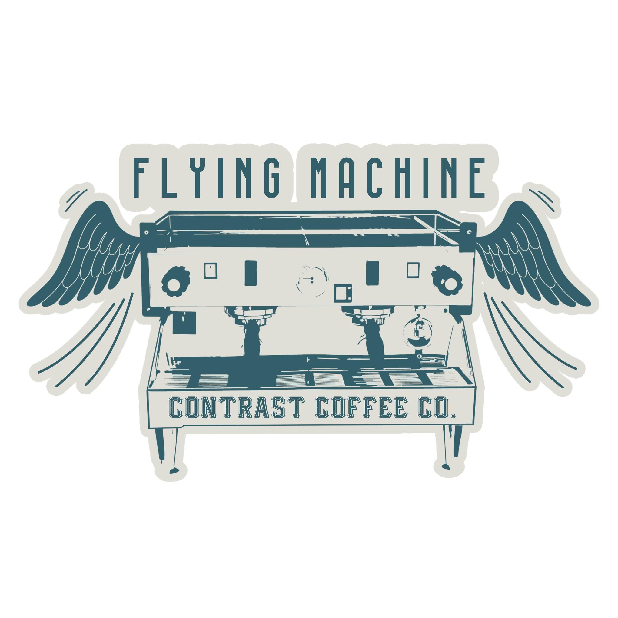 Sticker design for trendy northwoods coffee shops