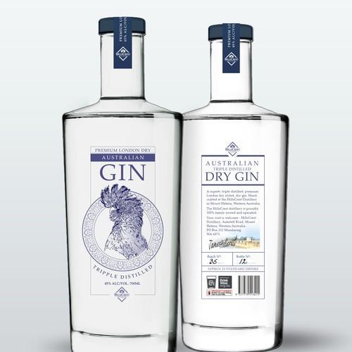 Australian Gin label